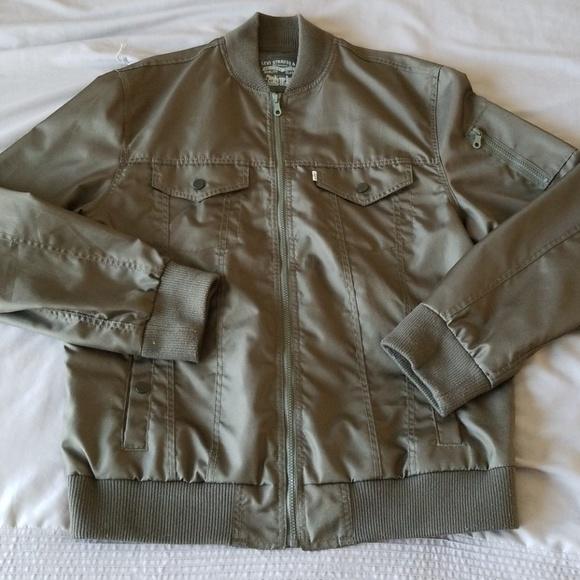 Mens Levi Army Green Jacket
